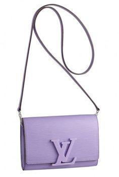 Louis Vuitton Enamel Purple Louise Bag - Spring Summer 2014