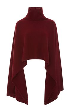 Balmain oversized cape sweater ❤ liked on Polyvore featuring tops ...