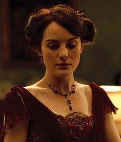 Michelle Dockery as Lady Mary Crawley in Downton Abbey (TV Series, 2010).