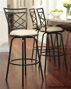 overstock - comfortable and supportive, these padded wrought iron