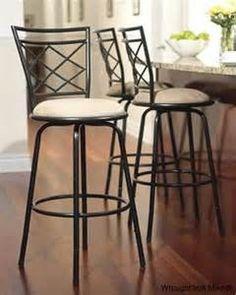 Resultados de la búsqueda de imágenes: bar stool wrought iron furniture - Yahoo Search