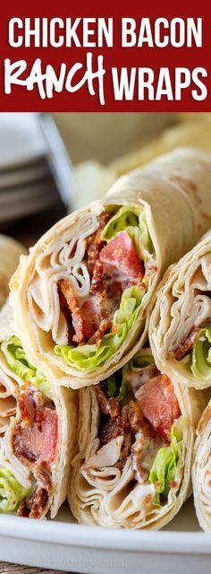 Chicken Bacon Ranch Wraps | Recipe | Chicken Recipes | Chicken bacon ranch wrap, Chicken bacon ranch