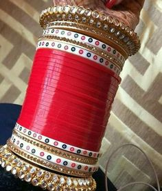 Indian Bridal Fashion, Indian Bridal Makeup, Punjabi Bride, Punjabi Couple, Punjabi Chura, Punjabi Wedding, Bridal Bangles, Wedding Jewelry, Chuda Bangles