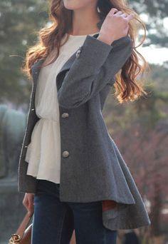 High-low Hemline Coat from littledaisy