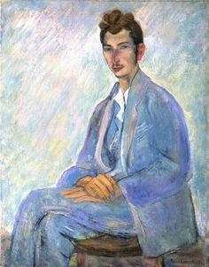 Pavel Kuznetsov. Portrait of Sergey Gorodetsky. 1924