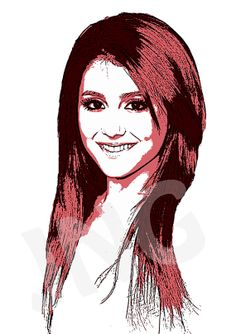 Ariana Grande 2 instant digital download art print by johnnovis, $3.00