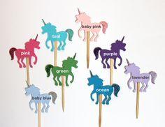 Glitter Unicorn Cupcake Topper Picks - they sparkle :-)