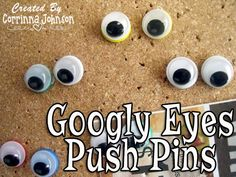 Googly Eyes Push Pins #halloween #crafts