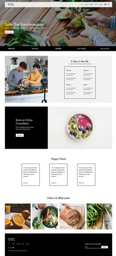Online Meal Planners | Wix Website Template