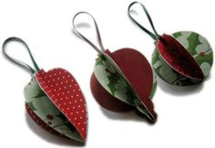 Homemade Christmas Ornaments to Make - easy tutorial for how to make three super-cute paper baubles, from Homemade-Gifts-Made-Easy.com
