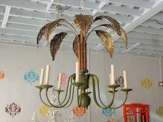 Palm Tree CHANDELIER for the Dining Room :)