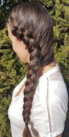 holländischer zopf seitlich, Holländischer Zopf ... - #Holländischer #seitlich #ZOPF Hair Highlights, Dreadlocks, Long Hair Styles, Beauty, White Oak, Floors, Protein, Two Dutch Braids, French Braid Short Hair