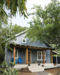 Architect J.C. Schmeil renovated and added onto a 1935 Austin bungalow in order to better accommodate his family: wife Ashley McLain, sons Corbin (13) and Beckett (10), and Shiner the rescue dog. They purchased the cottage in 1998, and after a couple of small renovations and considering a move, they realized they needed to add some serious square footage. So in 2012 Schmeil gutted the original cottage, upgraded all systems, and added on to the upstairs, bringing the former 820 square feet up…