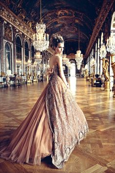Dior, The Hall of Mirrors, Versailles  @}-,-;--
