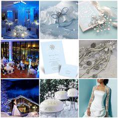 Blue Winter Wedding Flowers | Wedding Dress