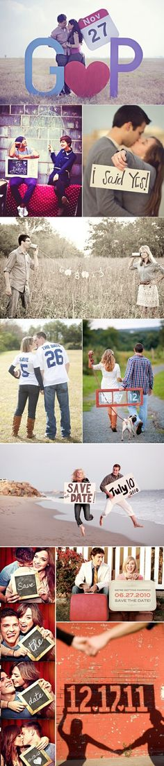 Save the date picture ideas