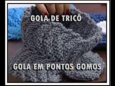 GOLA EM TRICO EM PONTOS GOMOS - YouTube