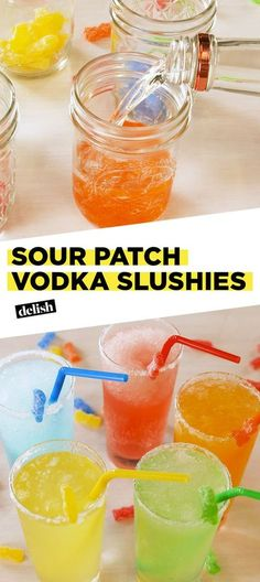 Get Lit With These Vodka Slushies – Cocktails Candy Alcohol Drinks, Easy Alcoholic Drinks, Kid Drinks, Alcohol Drink Recipes, Vodka Drinks, Summer Drinks, Vodka Martini, Beverages, Vodka Mixed Drinks