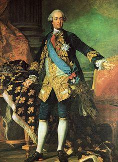 """Luís XV de França, o Bem-Amado"". (by Louis-Michel van Loo)."