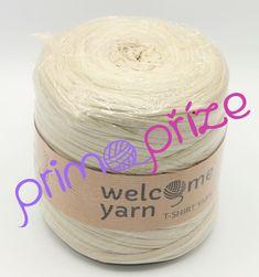 WELCOME YARN T-shirt Yarn světle béžová s leskem