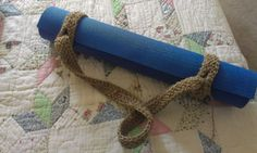 Crocheted yoga mat strap by LorynwithaY. Technically not a bag but used for carrying the mat :)