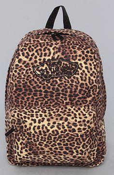 $35 The Realm Backpack in Black Leopard by Vans - Use repcode SMARTCANUCKS for 10-20% off on #Karmaloop - http://www.lovekarmaloop.com