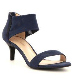 Pelle Moda Eden Nubuck & Mesh Kitten Heel Sandals #Dillards
