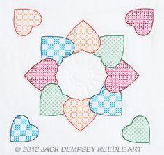 "Patchwork Hearts 18"" Quilt Blocks - Cross Stitch Kit"