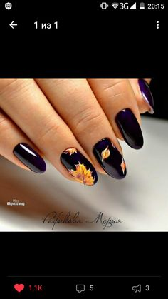 50 Fall Nail Art ideas and Autumn Color Combos to try on this season - Hike n Dip Fall Acrylic Nails, Autumn Nails, Holiday Nails, Christmas Nails, Nail Manicure, Toe Nails, Uñas Fashion, Fall Nail Art Designs, Thanksgiving Nails