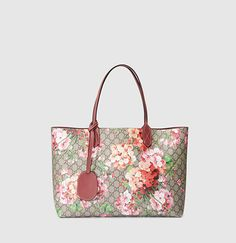 Gucci - borsa shopping GG blooms in pelle reversibile 368568CU7108693