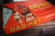 1966 Vintage Bas-Ket Basket Basketball   Sports Miniature Game by Cadaco-Ellis. $15.00, via Etsy.