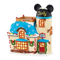 Department 56 Disney Village Mickey s Candy Shop Figurine 4047183 Disney Christmas Village, Department 56 Christmas Village, Mickey Christmas, Christmas Villages, Christmas Ornaments, Merry Christmas, Disney Village, Disney Holidays, Christmas Ideas