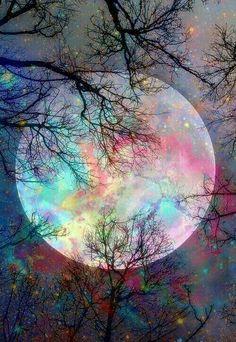 Cellphone Background / Wallpaper Moon Art by Josh Wylie