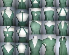 infinity dresses for bridesmaids Multi Dress Infinity dress . Dress can be changed to fit woman's body so same color and material but flattering top for each bridesmaid. Infinity Dress Styles, Infinity Dress Ways To Wear, Vestido Convertible, Multi Way Dress, Wedding Bridesmaid Dresses, Infinity Dress Bridesmaid, Dress First, Diy Clothes, Evening Dresses