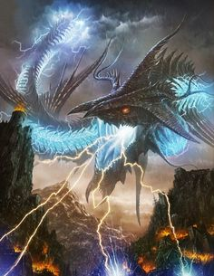 Artist: Unknown - Title: Unknown - Card: Electrifying Cloud Dragon (Rumble)