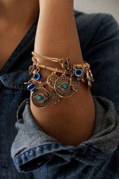 Gold evil eye Bangle  Gold evil eye Bangle/ Gold Hamsa Bracelet/Gold Bangles/Blue Evil Eye Bangles/Eye Gold/Turquoise Eye Bangle/Gift For…