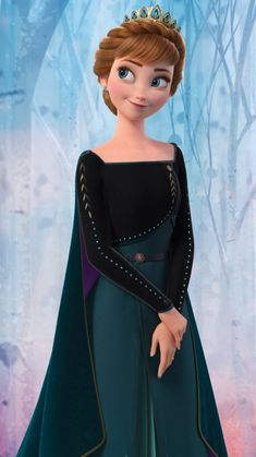 Anna the Queen of Arendelle from Frozen 2 Anna Disney, Princesa Disney Frozen, Disney Princess Frozen, Disney Princess Drawings, Disney Princess Pictures, Disney Pictures, Frozen Movie, Olaf Frozen, Frozen Wallpaper