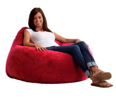 """A great place for TV, Video games or just hanging out. Teardrop shape helps support back and arms, giving the ultimate place to just """"chill"""" out. The first one to use patented memory foam, the Fuf is one-of-a-kind. Spend five minutes on a Fuf and your body will thank you for it."""