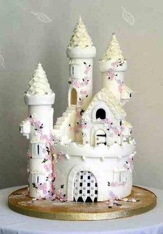 ideas birthday cake fondant girl bridal shower for 2019 Fairy Castle Cake, Castle Birthday Cakes, Pink Birthday Cakes, Castle Cakes, Birthday Parties, 20 Birthday, Birthday Cupcakes, Fondant Girl, Fondant Cakes