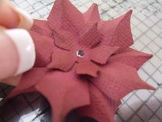 Ideas for Scrapbookers: Punched Poinsettia by Karen A.