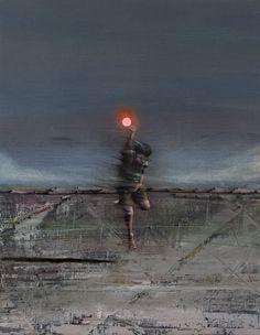"Fernando Molero - ""Autum nights"" Oil oncanvas 71cm x 56cm. 28"" x 22"". 2009"