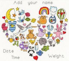 Baby Heart Cross Stitch Kit | sewandso