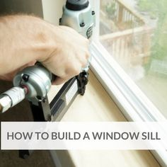 Step-by-step tutorial of how to replace a window sill and add new beauty and value to your home with this custom look.