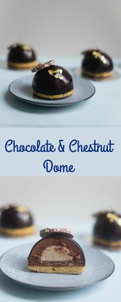 Delicious Chocolate & Chestnut Domes are the perfect make ahead dessert for you Christmas celebrations. These can be made up to a day in advance.