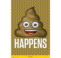 Emoji Poster Shit Happens. Hier bei www.closeup.de