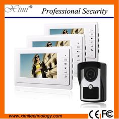 "Good quality IP64 waterproof 7 inch video door bell 420TVL outdoor camera 7"" TFT color screen monitor intercom access control"