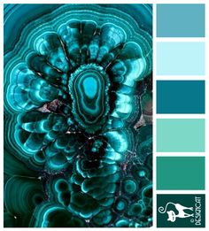 Geode 2 - Blue, Teal, Turquoise, Tiffany, Pastel, Pale - Designcat Colour Inspiration Board