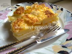 POTATOES dauphinoise Cookbook Recipes, Cooking Recipes, Potatoes Dauphinoise, Potato Side Dishes, Greek Recipes, Side Dish Recipes, Macaroni And Cheese, French Toast, Breakfast