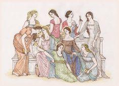 9 muses mythology - Αναζήτηση Google