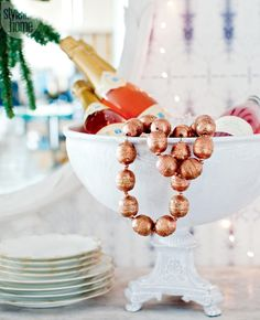 Decor maven Stephanie Vogler hosts her gal pals for the perfect pre-holiday party, complete with sweet treats and pink champagne {PHOTO: Janis Nicolay}